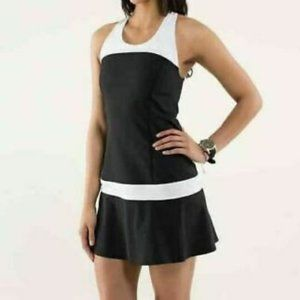 Lululemon Hot Hitter Dress Black/White